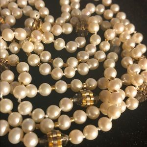 Jewelry - NWOT Miguel Ases Pearl and Crystal Necklace